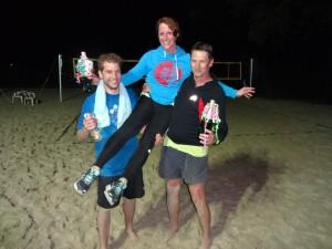 Die strahlenden Sieger: Christian (3.), Gabi (1.) und Olav (2.)