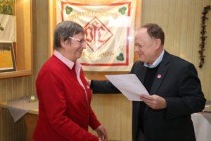 50 Jahre Mitgliedschaft Hedda Petermann